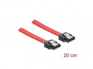 Delock SATA 6 Gb/s Kabel 20 cm rot