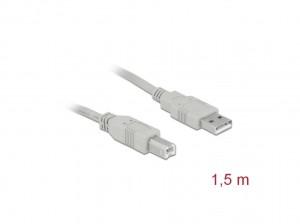Delock Kabel USB 2.0 Typ-A Stecker > USB 2.0 Typ-B Stecker 1,8 m