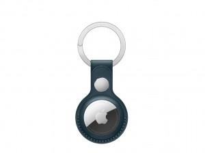 Apple AirTag Schlüsselanhänger aus Leder (baltischblau)