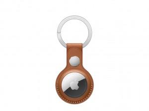 Apple AirTag Schlüsselanhänger aus Leder (Sattelbraun)