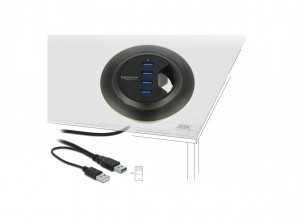 Delock Tisch-Hub 4 Port USB 3.0