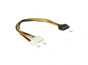 Delock Kabel Y-Power SATA Stecker 15 Pin > 4 Pin Molex Buchse + 4 Pin Floppy