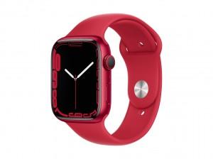 AppleWatch S7 Aluminium 45mm Cellular Rot (Sportarmband rot)