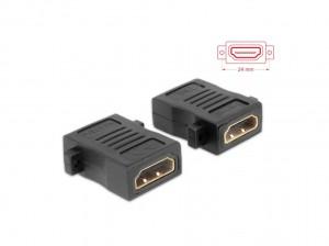 Delock Adapter HDMI-A Buchse > HDMI-A Buchse mit Schraubanschluss