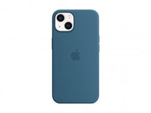 Apple Silikon Case iPhone 13 mit MagSafe (eisblau)