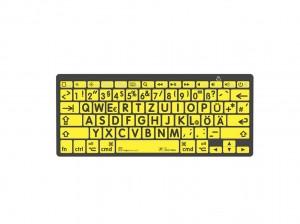 LogicKeyboard XL-Print Black on Yellow dt. (Mac/BT)