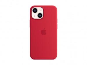 Apple Silikon Case iPhone 13 mini mit MagSafe (rot)