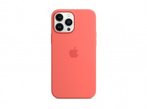 Apple Silikon Case iPhone 13 Pro Max mit MagSafe (pink pomelo)
