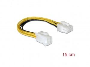 Delock Kabel Stromversorgung 8pin EPS > 4pin ATX/P4