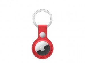 Apple AirTag Schlüsselanhänger aus Leder (rot)