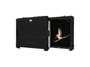 Griffin Survivor Slim für Surface Go in Black