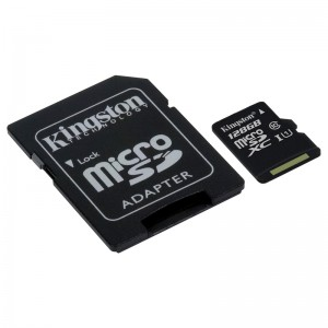 KINGSTON 128GB microSDHC Canvas Select 80R CL10 UHS-I