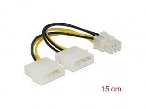 Delock Stromkabel für PCI Express Karten 15cm