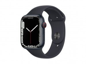 AppleWatch S7 Aluminium 45mm Cellular Mitternacht (Sportarmband mitternacht)
