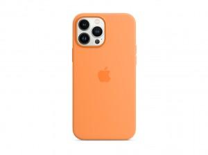 Apple Silikon Case iPhone 13 Pro Max mit MagSafe (gelborange)