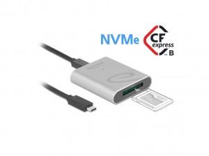 Delock USB-C Card Reader für CFexpress Speicherkarten, Aluminium Gehäuse