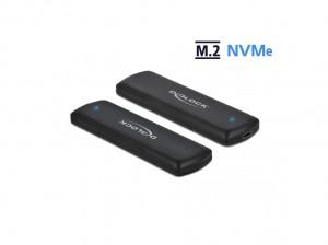 Delock Externes Gehäuse für M.2 NVMe USB-C - werkzeugfrei