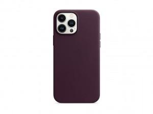 Apple Leder Case iPhone 13 Pro Max mit MagSafe (dunkelkirsch)