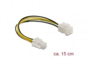 Delock Verlängerungskabel P4 4 Pin Stecker > P4 4 Pin Buchse 15 cm