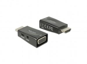 Delock Adapter HDMI-A Stecker > VGA Buchse mit Audio