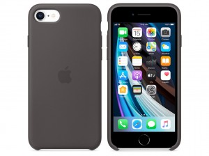 Apple Silikon Case iPhone SE (schwarz)