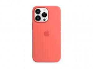 Apple Silikon Case iPhone 13 Pro mit MagSafe (pink pomelo)
