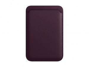 Apple Leder Wallet iPhone mit MagSafe (dunkelkirsch)