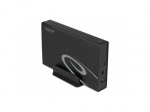 "Delock USB3.2Gen2 (10Gbps), SATA int. Gehäuse 3,5""(8,9cm) Alu"