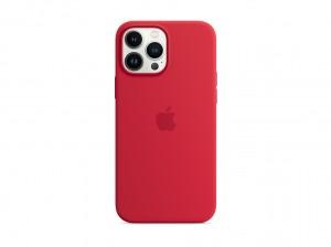 Apple Silikon Case iPhone 13 Pro Max mit MagSafe (rot)