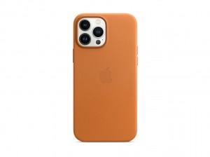Apple Leder Case iPhone 13 Pro Max mit MagSafe (goldbraun)