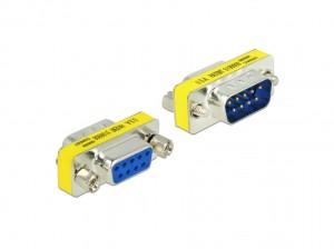 Delock Adapter Seriell Sub-D 9 Pin Stecker > Sub-D 9 Pin Buchse