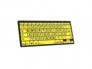 LogicKeyboard XL-Print Black on Yellow dt. (PC/BT)
