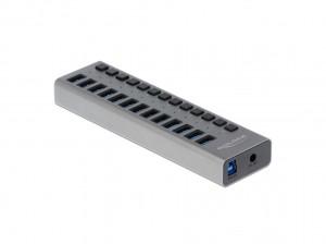 Delock USB 3.0 Hub mit 13 Ports, einzeln schaltbar