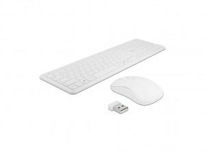 Delock USB Tastatur und Maus Set 2,4 GHz kabellos wei