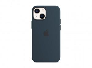 Apple Silikon Case iPhone 13 mini mit MagSafe (abyssblau)