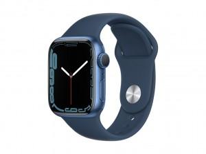 AppleWatch S7 Aluminium 41mm Blau (Sportarmband abyssblau)
