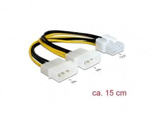 Delock Kabel PCI Express Stromversorgung 8pin > 2x 5