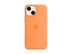 Apple Silikon Case iPhone 13 mini mit MagSafe (gelborange)